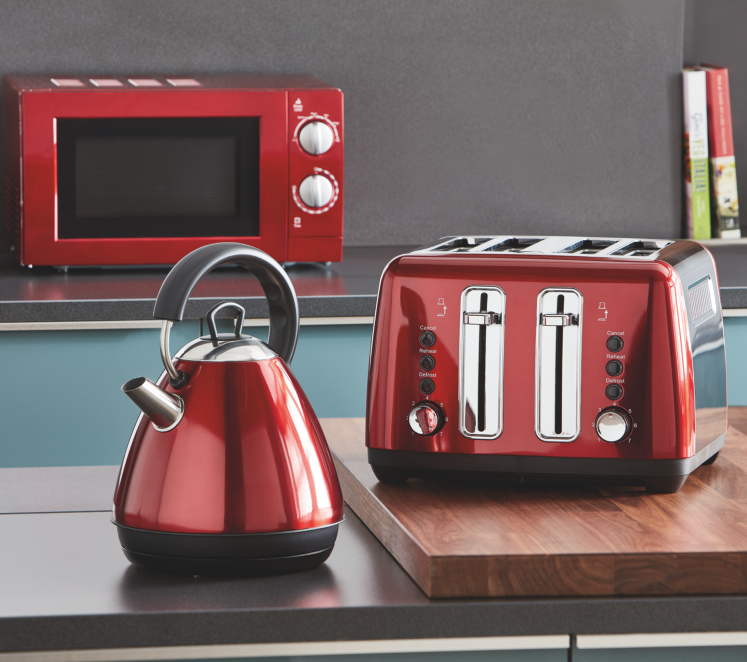 Red Kitchen Appliances Range George