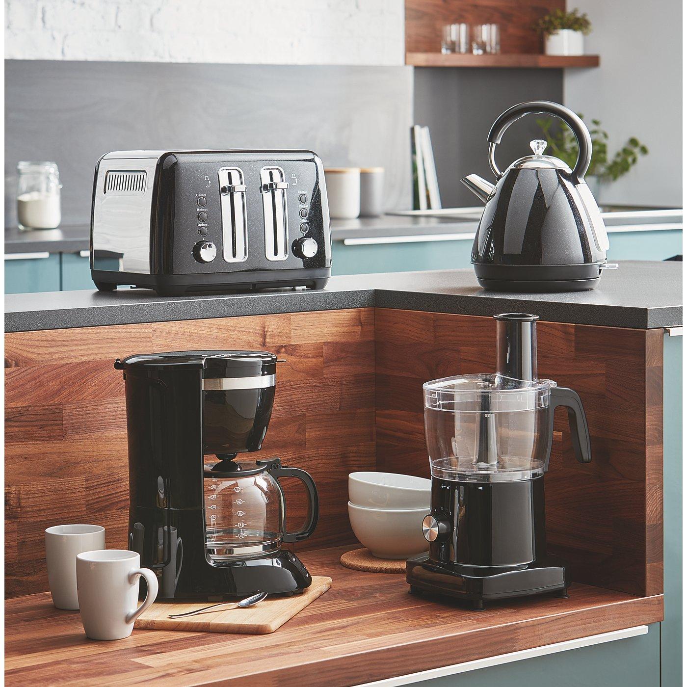 Black Kitchen Appliances Range | George