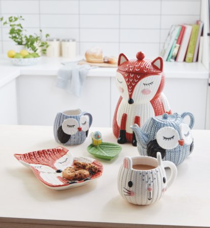 Knitted Animals Tableware Range