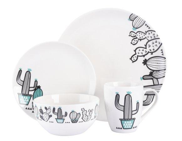Cactus Print Tableware Range
