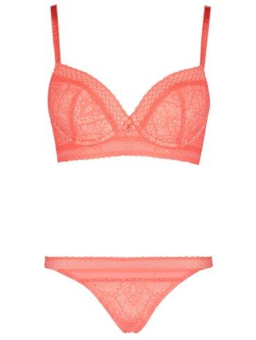 Entice Lace T-shirt Bra & Thong