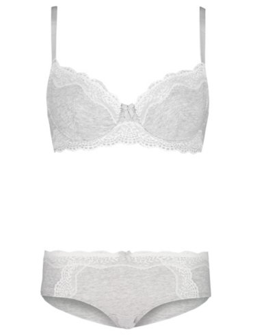 Lace Non-Padded Bra and Shorts Set