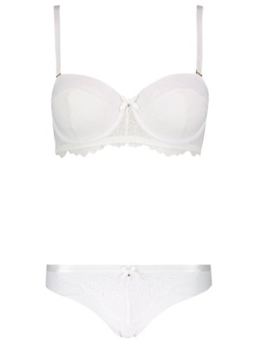 Entice Balcony Bridal Bra and Thong Set