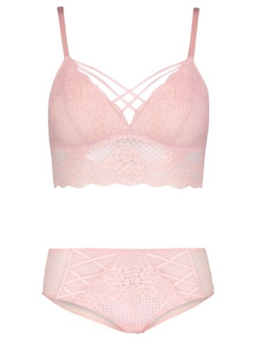 Entice Non-Wired Bralette and Shorts Set