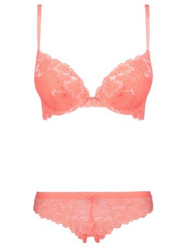 2 Sizes Bigger Lace Bra and Brazilian  Set