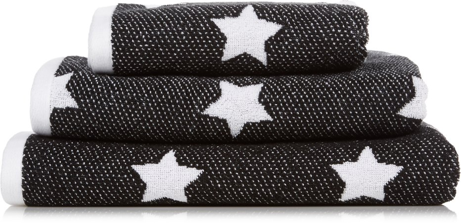 Black & White Stars Towel Range