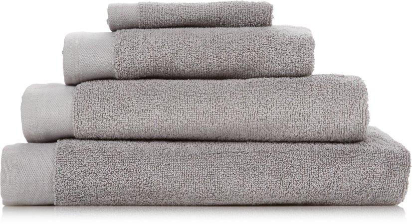 100% Cotton Mid Grey Towel Range