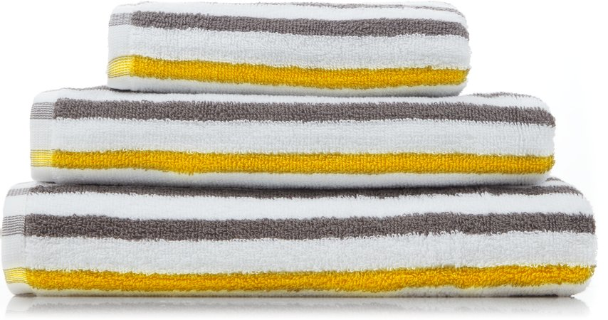 Grey & Yellow Stripe Towel Range