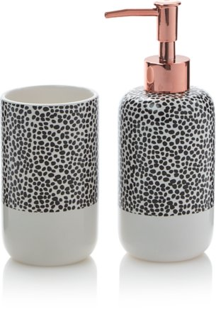 Dalmatian Spot Soap Dispenser & Tumbler Range