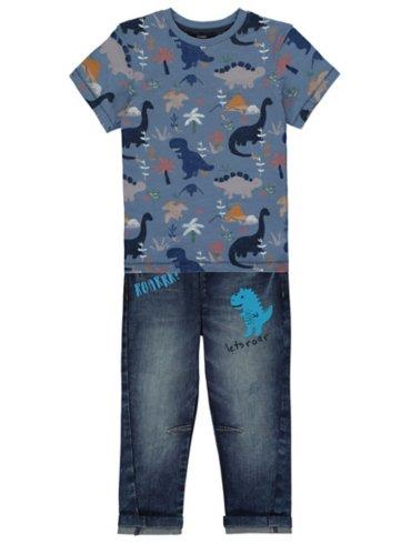 Dinosaur Print T-Shirt & Jeans