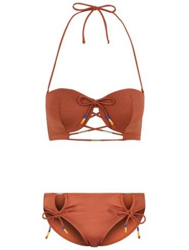 Brown Shimmering Bikini Set