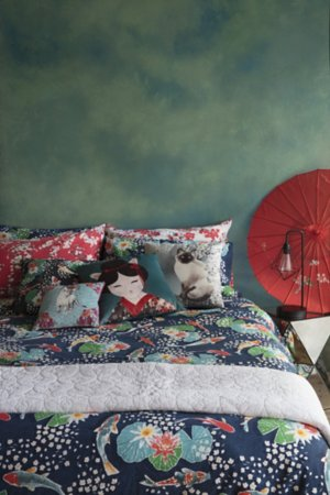 Geisha Cat Bedding Range