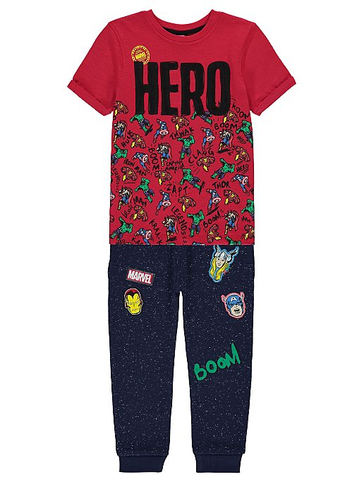 fdf76123 Marvel Comics Superhero T-shirt and Joggers Outfit | George
