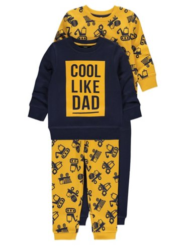 Digger Print Sweatshirts and Joggers 2 Pack Outfits