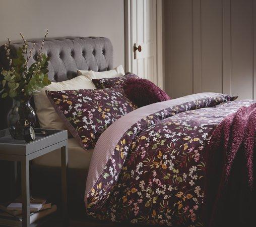 Purple Floral Bedding Range