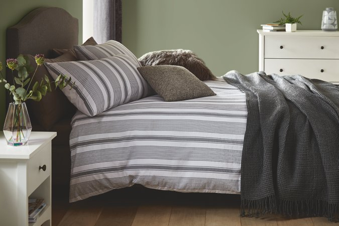 Striped Grey Bedroom Range