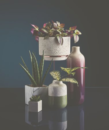 Vases and Artificial Flowers Range