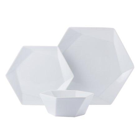 Hexagonal Dinner Set