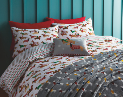 Christmas Sausage Dog Bedroom Range