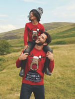 Red Rudolph Knitted Mini Me Christmas Jumper Set | George