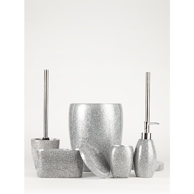 Silver Glitter Bathroom Accessories
