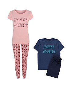 3af9c515db Date Night Slogan Matching Pyjama Set