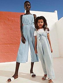 f1208e735ce Mini Me Denim Look Culotte Jumpsuits