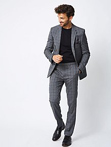 8acf777b06f Dark Grey Check Slim Fit Suit