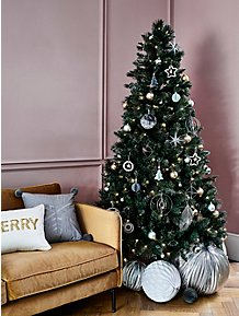 Christmas Tree Decoration.Christmas Tree Decorations Garlands Toppers Baubles