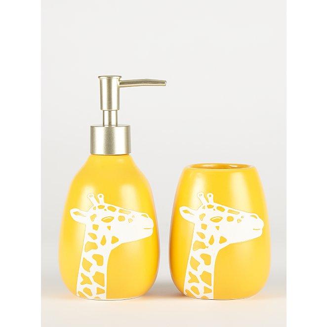 Yellow Giraffe Tumbler And Soap Dispenser Set George At Asda