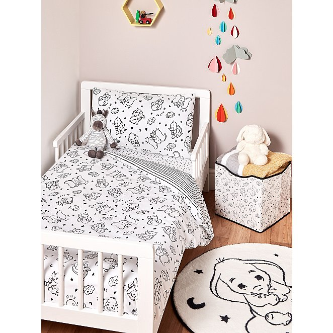 Disney Dumbo Toddler Bedding Set, Disney Bed Sheets Queen Size