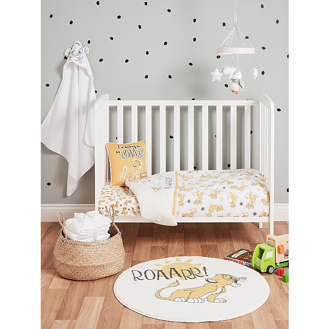 Disney Lion King Nursery Bedding Set, Baby Crib Bedding Set Lion King