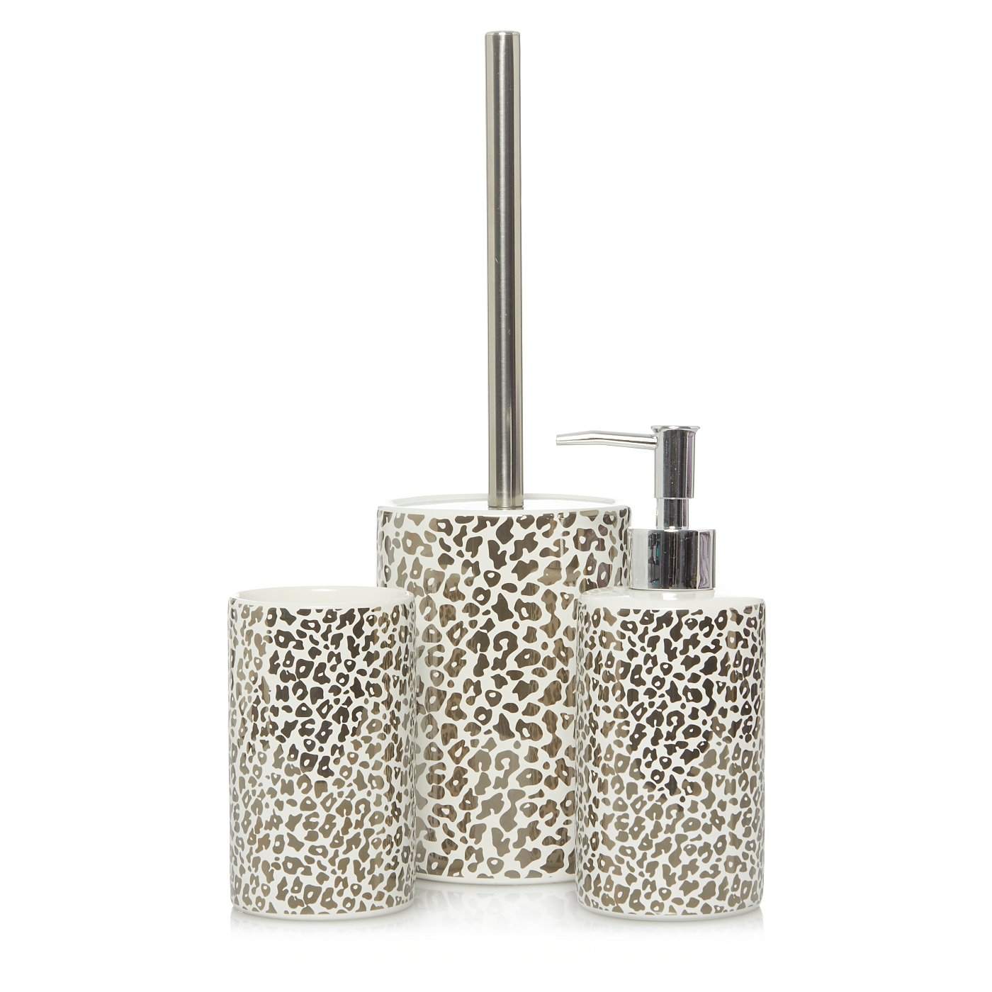 Leopard Print Bath Accessories Range | Bathroom Accessories | George ...