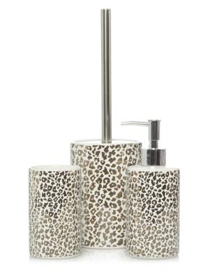 Leopard Print Bath Accessories Range