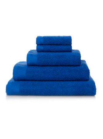 100% Cotton Towel Range - Brilliant Blue