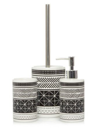 Geo Print Bath Accessories Range