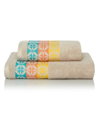 100% Cotton Towel Range - Havana Tile