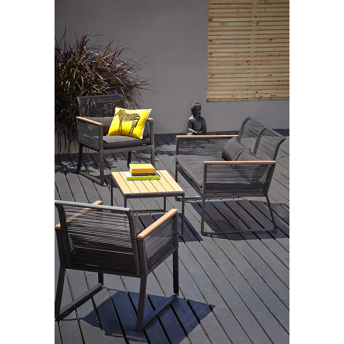 Noir 4 Piece Garden Set   Get The Look  Loading zoom. Noir 4 Piece Garden Set   Get The Look   Garden Furniture   George