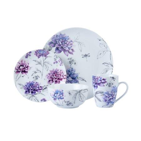Purple Floral Tableware Range
