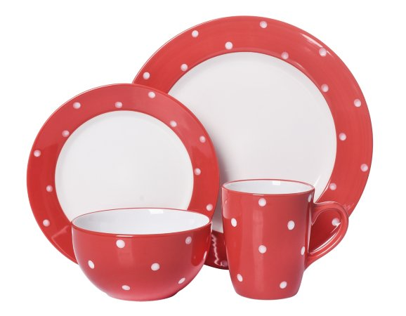 Red Polka Dots Tableware Range