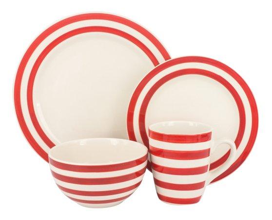 Red Stripe Tableware Range