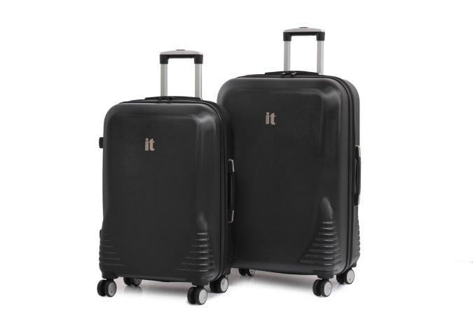 it Luggage Black Emboss 8 Wheel Hardshell Range