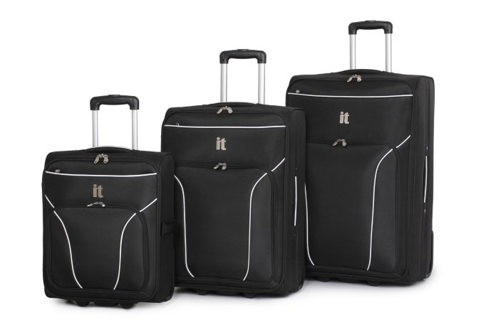 it Luggage Black 2 Wheel Boc Trolley Case Range