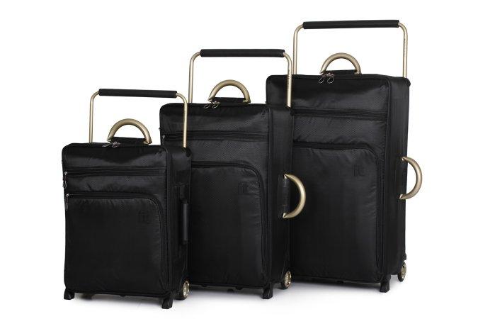 it Luggage Black Lightest Trolley Case Range