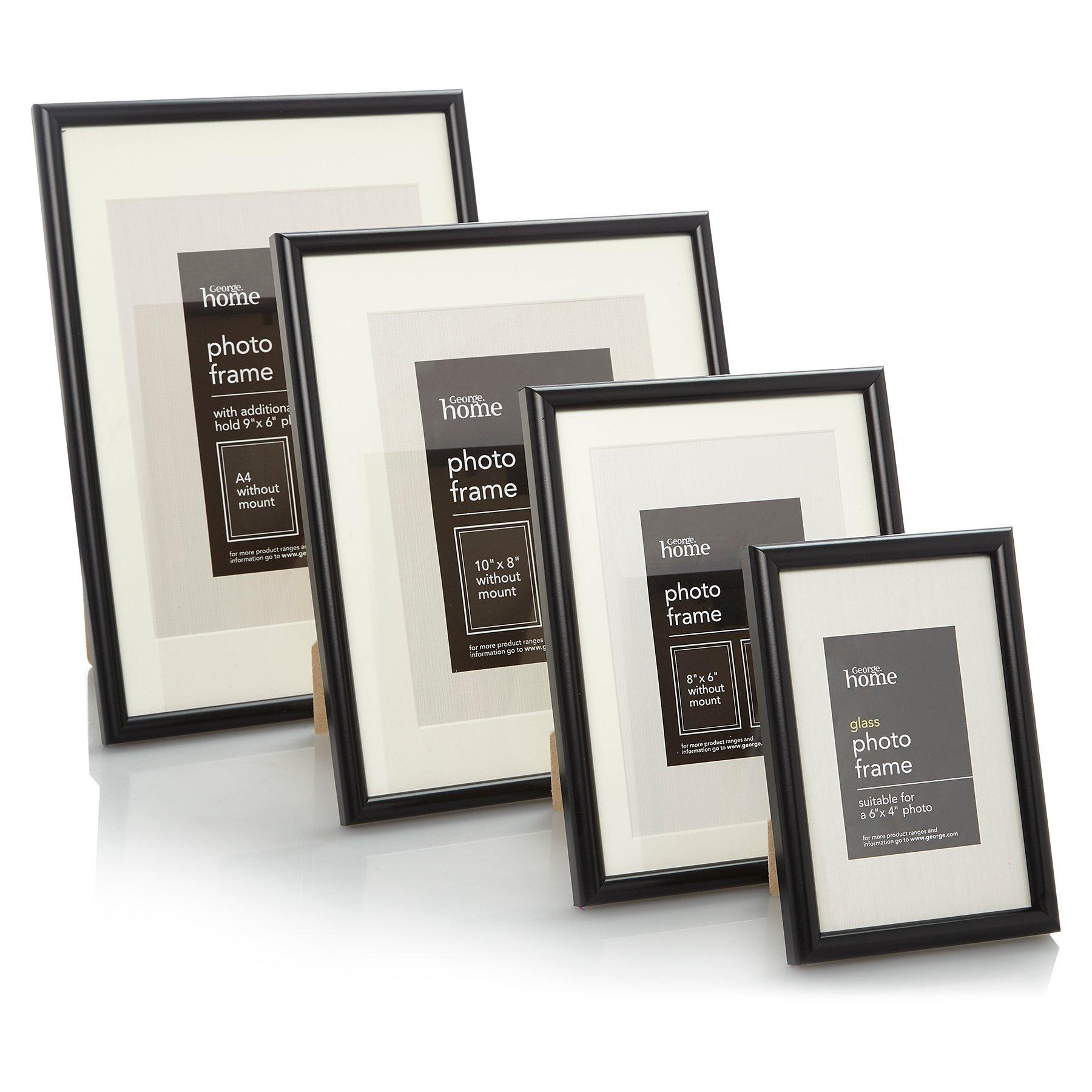 Black Photo Frame Range Photo Frames George At Asda