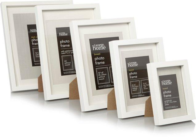 White Boxed Frame Range