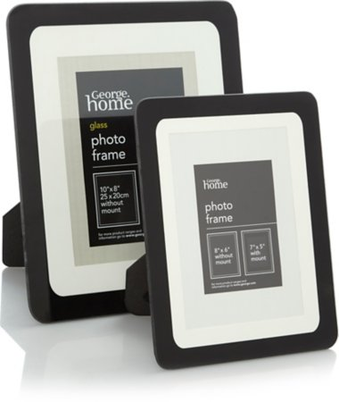 Black Edge Photo Frame Range