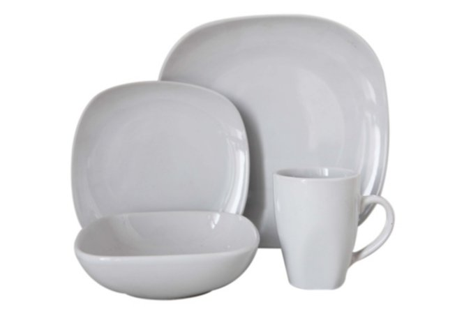 George Home White Square Tableware Range