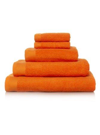100% Cotton Towel Range - Zingy Orange