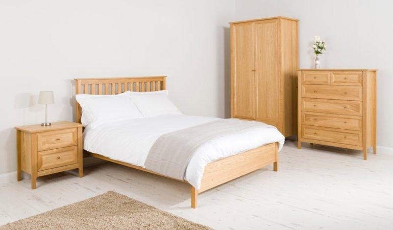 George Home Ewan Bedroom Furniture Range - Oak & Oak Veneer